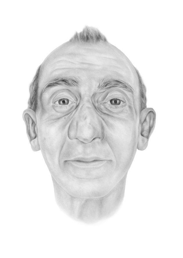 An artist's impression issued whenDavid Lytton's body was found in December