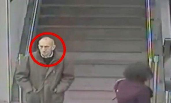 CCTV showing Lytton at Ealing Broadway tube