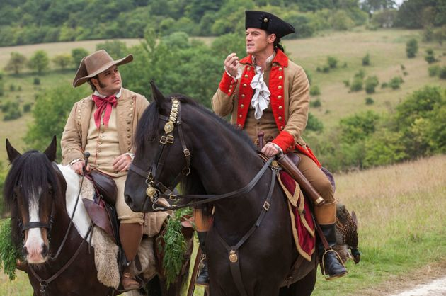 Josh Gad and Luke Evans in 'Beauty And The