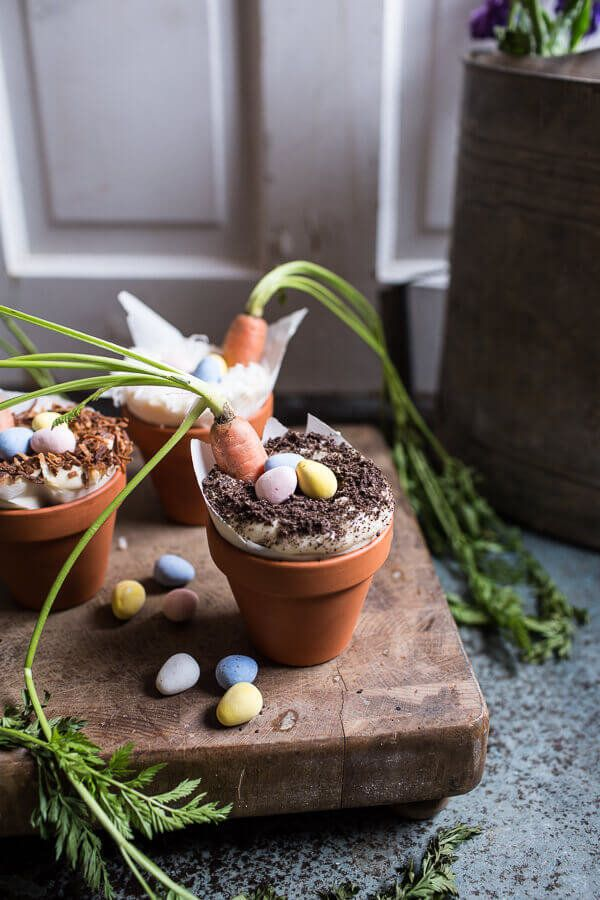 """<strong>Get the <a href=""""https://www.halfbakedharvest.com/double-chocolate-nutella-carrot-cake-cups-with-malted-cream-cheese-"""