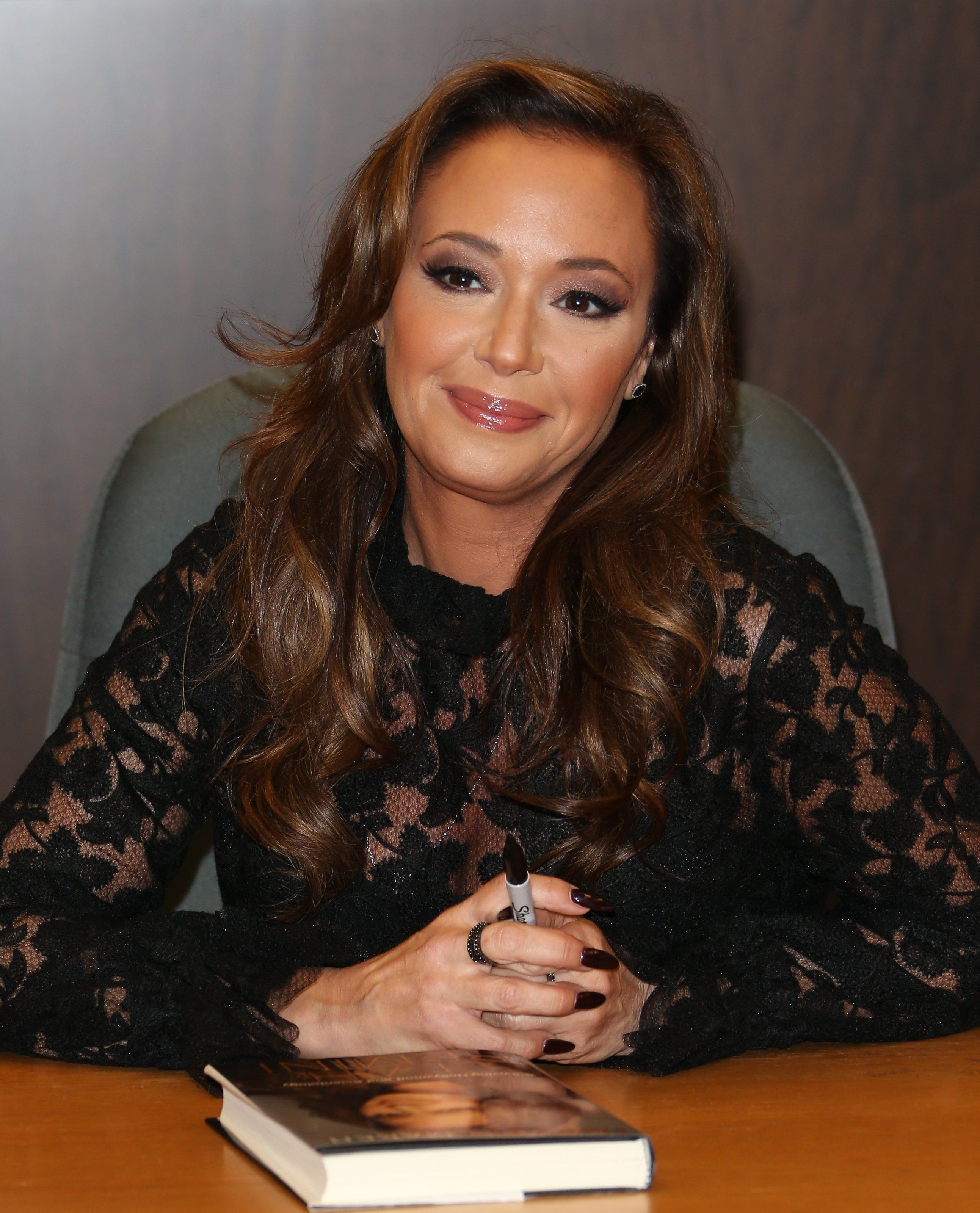 LOS ANGELES, CA - DECEMBER 08: Leah Remini signs copies of her new book 'Troublemaker: Surviving Hollywood and Scientology' on December 8, 2015 in Los Angeles, California. (Photo by JB Lacroix/WireImage)