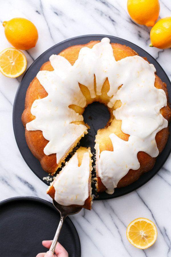 """<strong>Get the <a href=""""http://www.loveandoliveoil.com/2016/03/greek-yogurt-meyer-lemon-bundt-cake.html"""" target=""""_blank"""">Gre"""