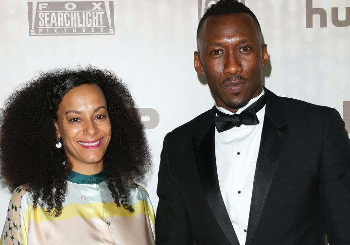 Mahershala Ali and his wife, Amatus Sami-Karim, attend the FOX and FX's 2017 Golden Globe Awards After Party.