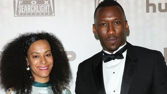 BEVERLY HILLS, CA - JANUARY 08: Actress Mahershala Ali (L) and his Wife Amatus Sami-Karim (R) attend the FOX and FX's 2017 Golden Globe Awards After Party at The Beverly Hilton Hotel on January 8, 2017 in Beverly Hills, California. (Photo by Paul Archuleta/FilmMagic)
