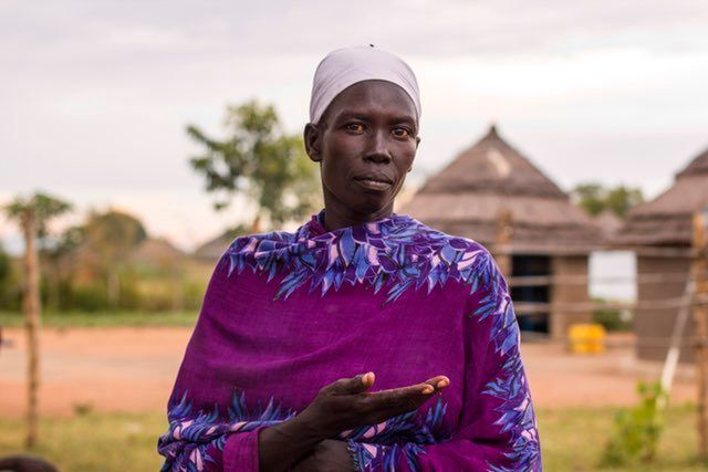 "Alice Yangi, from Eastern Equatoria in South Sudan, who has 12 children: ""Women can bring peace in this world by educating th"