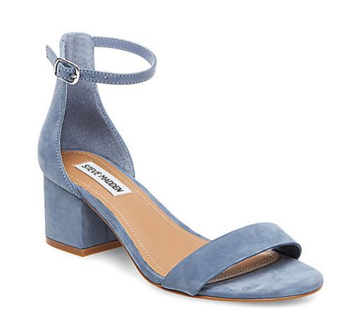 "The ankle strap and low block heel is cute and ladylike.<br><br><a href=""http://www.stevemadden.com/product/DIVINE/244172.uts"
