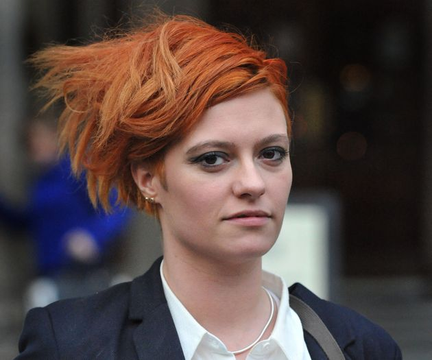 Jack Monroe outside court. Hopkins did not attend the High Court to hear the