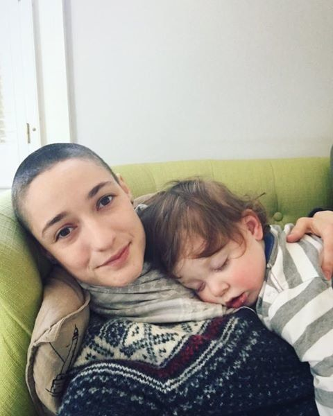 Virginia Mellen initially hesitated when she wanted to shave her head. Then, she decided to teach her son not to care about what other people think when it comes to appearances.