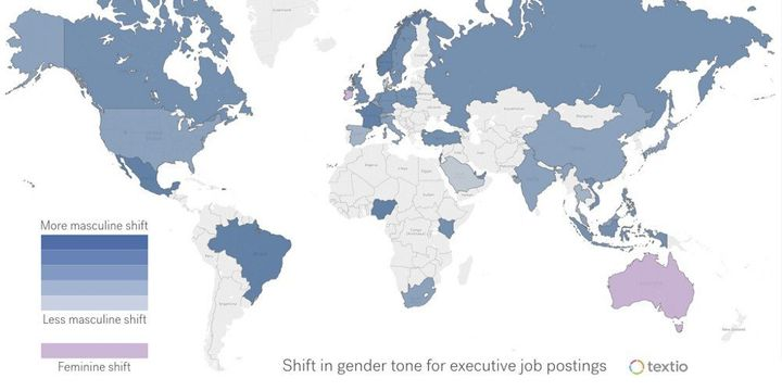 Around the globe, job listings for high-paying roles skew masculine -- except in two countries.