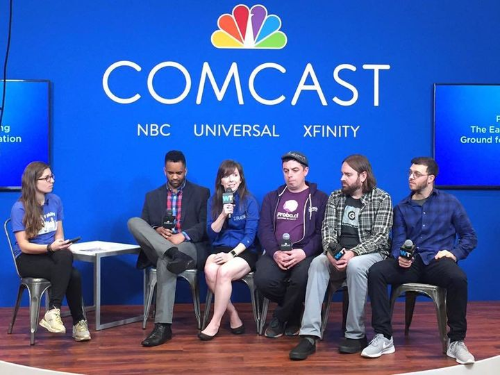 <p>Felicite Moorman, CEO of StratIS speaks on a panel at SXSW.</p>