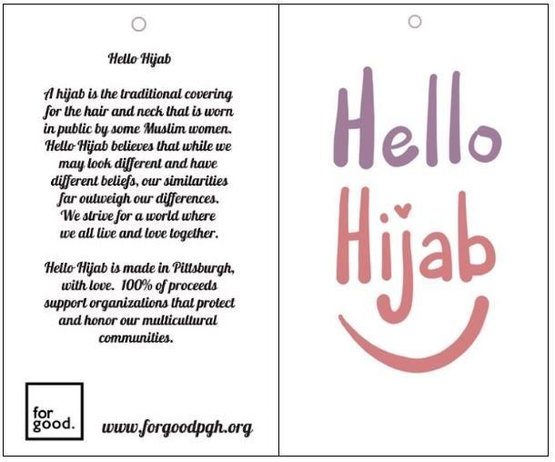 A sample of the educational card that will come with each doll's hijab.