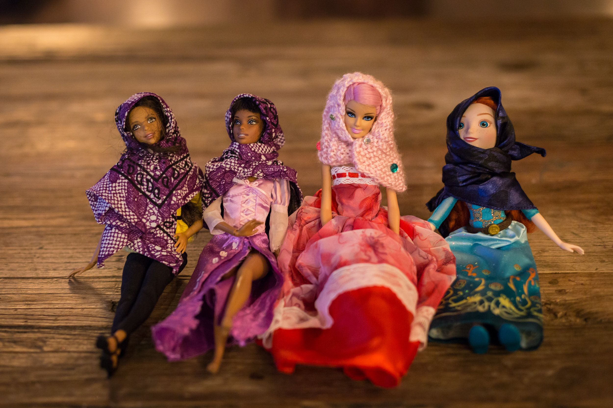 Gisele Fetterman partnered with Safaaa Bokhari, both residents of Pittsburgh, to offer hand-made hijabs as accessories for dolls.