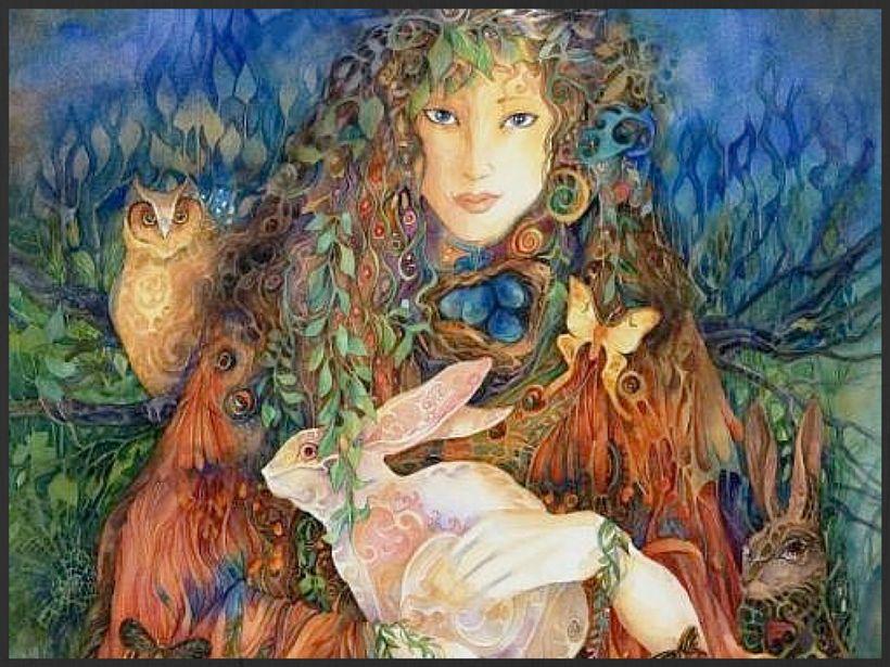 """Ostara, goddess of Spring Equinox   <a rel=""""nofollow"""" href=""""https://www.owlsdaughter.com/"""" target=""""_blank"""">www.owlsdaughter.c"""
