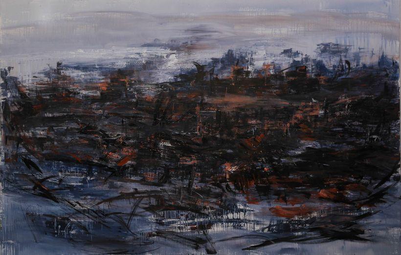 <em>The Dynamic of Desire and Conscience,</em> 300 x 200cm