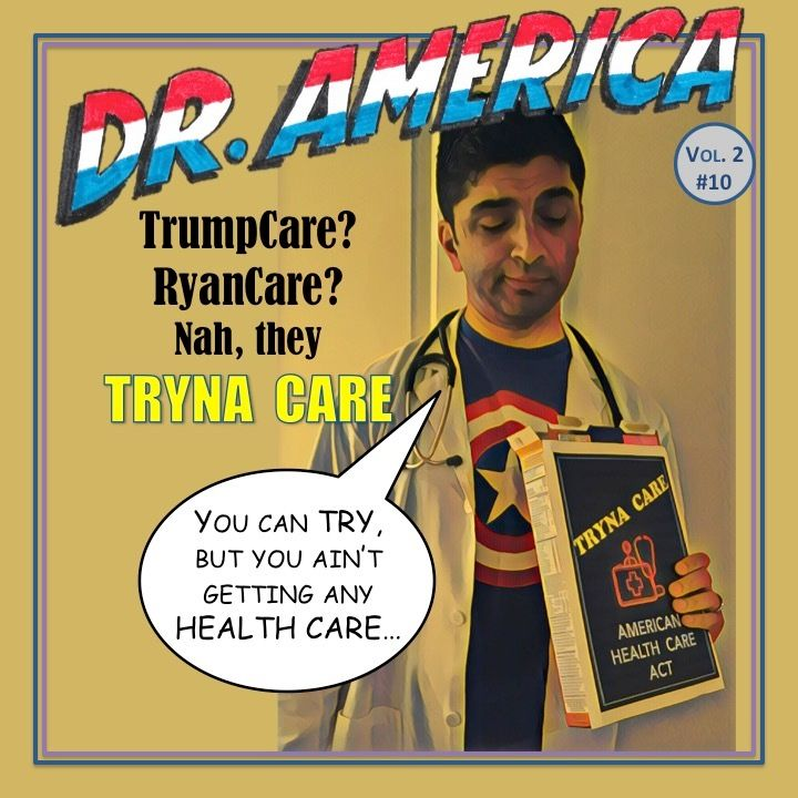 #Trumpcare? #Ryancare? More like #TrynaCare -- America can try, but we ain't gettin no care with #AHCA. Hear more on the <a r