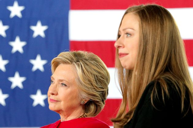 Chelsea Clinton and her mother, former Secretary of State Hillary