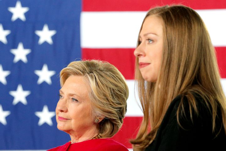 Chelsea Clinton and her mother, former Secretary of State Hillary Clinton.