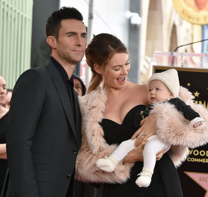 Levine and Prinsloo welcomed their first child in September.