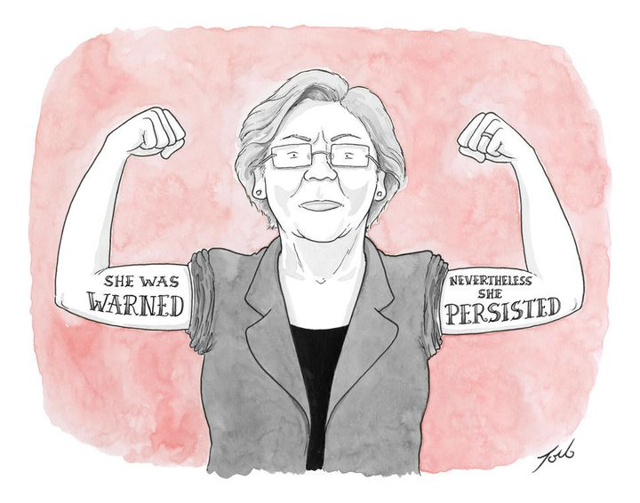 """Nevertheless, she persisted"" has become a rallying cry for women's rights advocates."