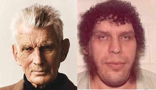 (l. to r.) Samuel Beckett and AndreRoussimoff