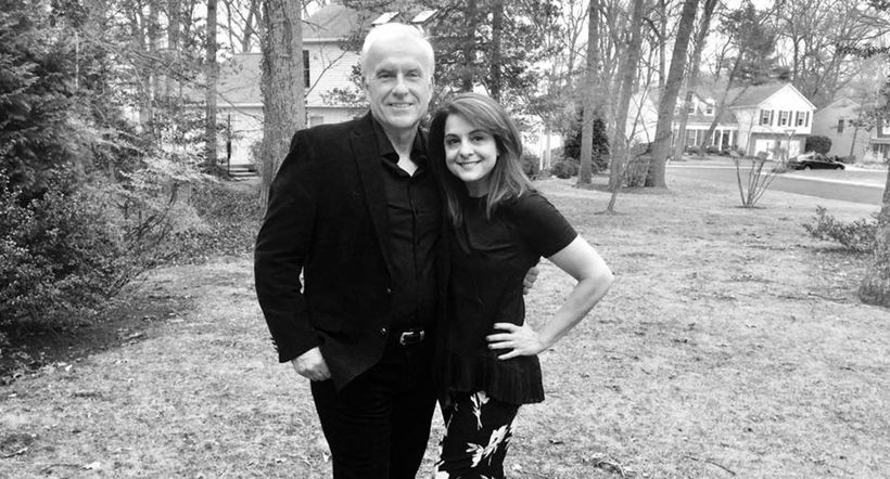 My husband, John Smith and I outside our home in suburban Maryland.