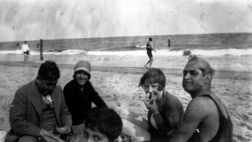 My grandparents Helen Jeffreys and Abol Ghassem Bakhtiar (far right) on Coney Island 1927