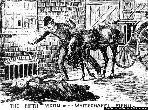 An illustration of the discovery of Catherine Eddowes, the fifth victim attributed to Jack the