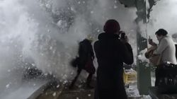 Amtrak Train Slams Commuters With An Avalanche Of