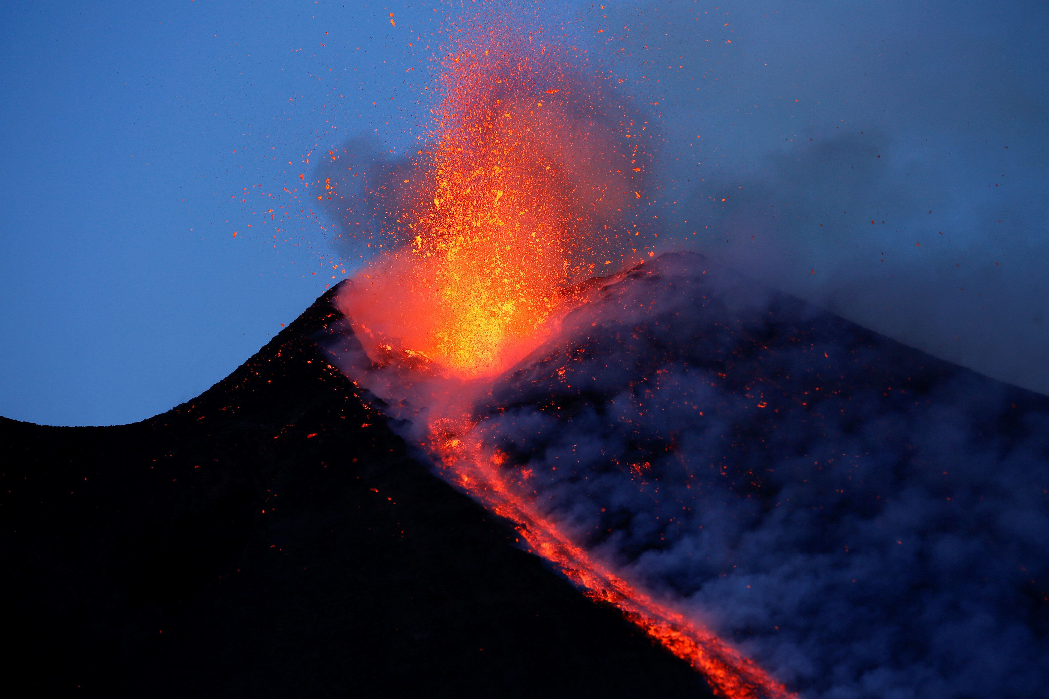 BBC News Crew Caught In Mount Etna Explosion, Multiple People