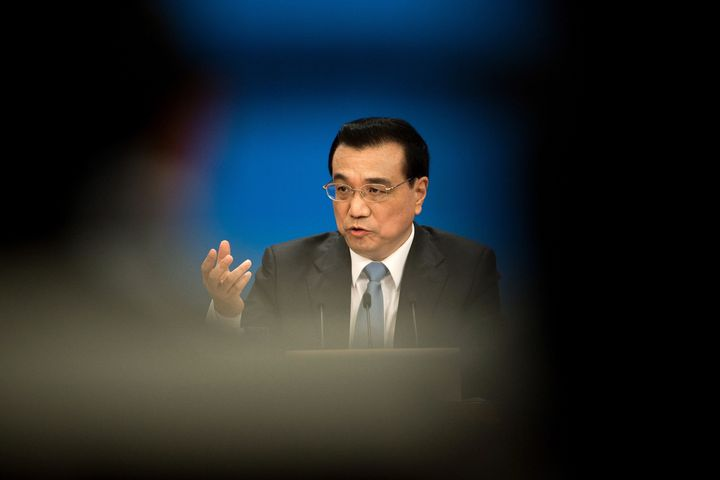 China's Premier Li Keqiang at a press conference after the closing ceremony of the National People's Congress in Beijing