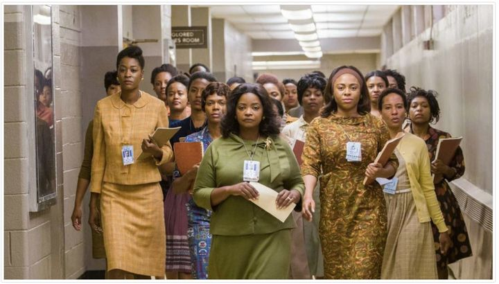Women in the film Hidden Figures.