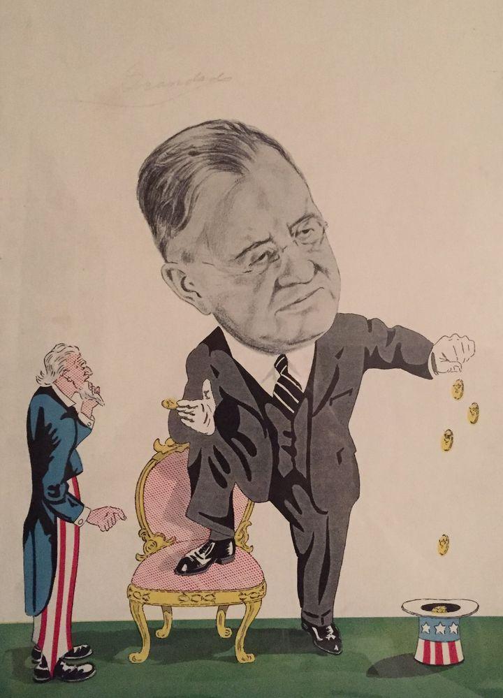 W. W. Durbin, register of the Treasury, 1934 cartoon