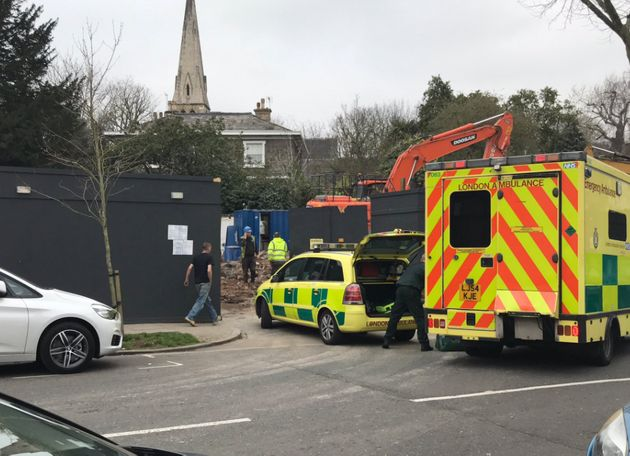 Emergency services were called to the address in Swains Lane shortly after 2pm on