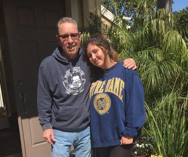 Gabby and her grandpa.