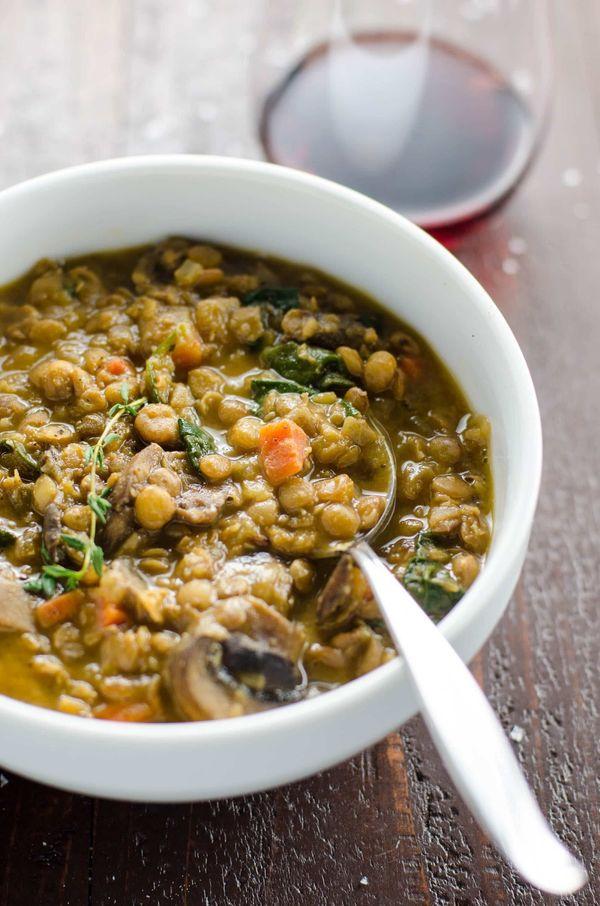 "<strong>Get the <a href=""https://umamigirl.com/lentil-stew-mushrooms-spinach/"" target=""_blank"">Mushroom Lentil Stew with Spin"