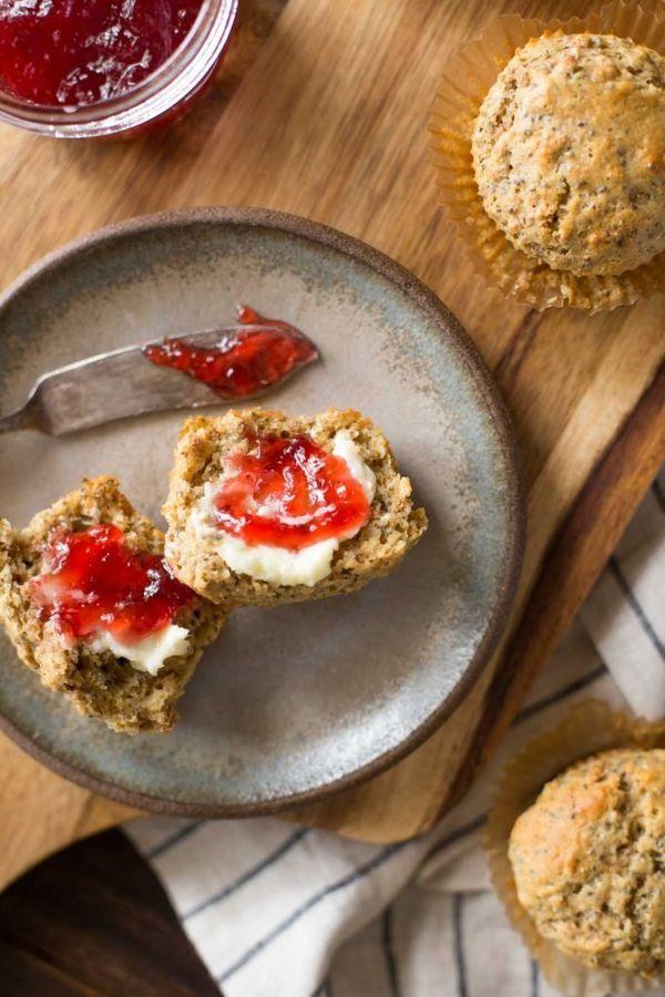 """<strong>Get the <a href=""""http://lovelylittlekitchen.com/honey-bran-muffins/"""" target=""""_blank"""">Honey Bran Muffins recipe</a>&nb"""