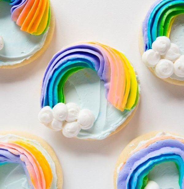 """<strong>Get the <a href=""""http://iambaker.net/rainbow-sugar-cookie/"""" target=""""_blank"""">Rainbow Sugar Cookies recipe</a>fro"""