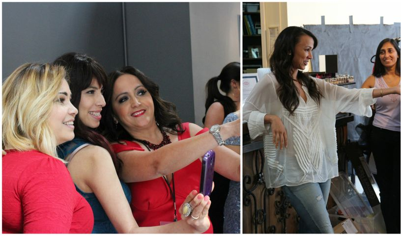 On left, participants snap photos of their special day. On right, founder Amie Satchu during the 'Thank You Ceremony'.