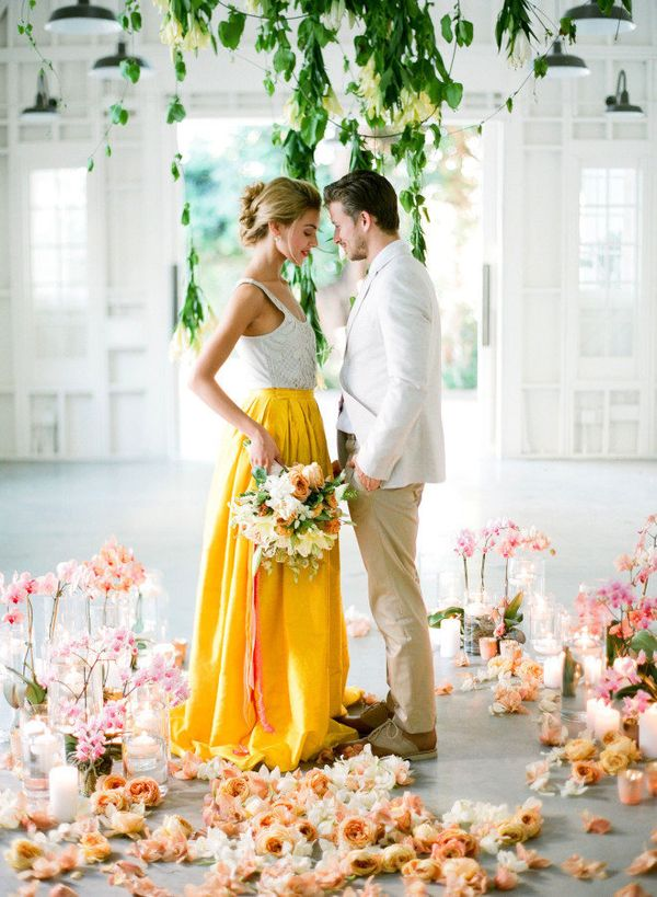 15 yellow dresses for brides who want to channel their inner belle iskirt by a hrefhttp junglespirit Choice Image