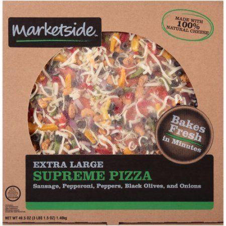 RBR Meat Company has recalled about 21,220 pounds of Marketside Extra Large Supreme Pizzas.  The product carries the cod