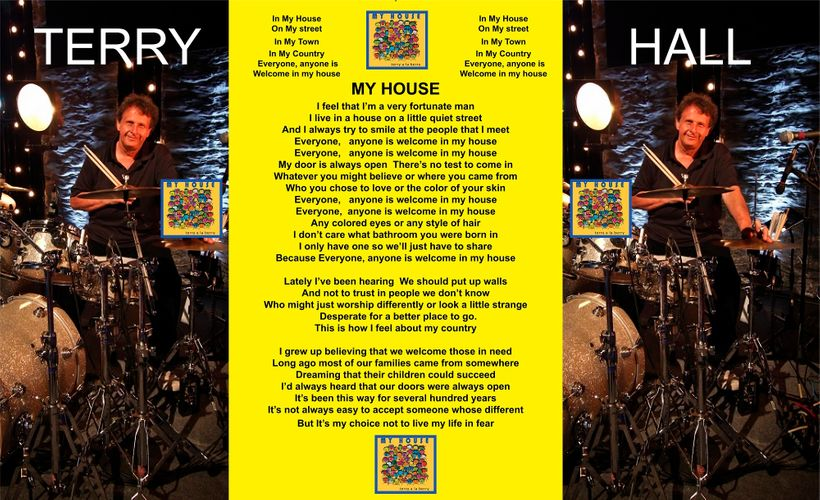 """<em>The lyrics to Terry's """"inclusive"""" song IN MY HOUSE</em>"""