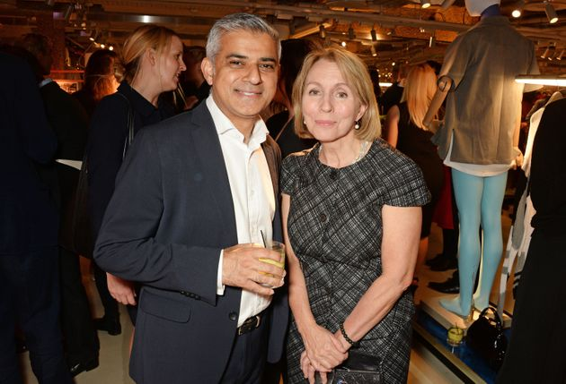 Outgoing Standard Editor Sarah Sands with London Mayor Sadiq