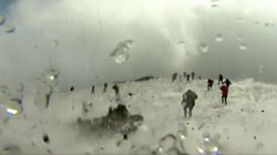 Footage Shows The 'Terrifying Moment' BBC Crew Are Caught Up In Mount Etna