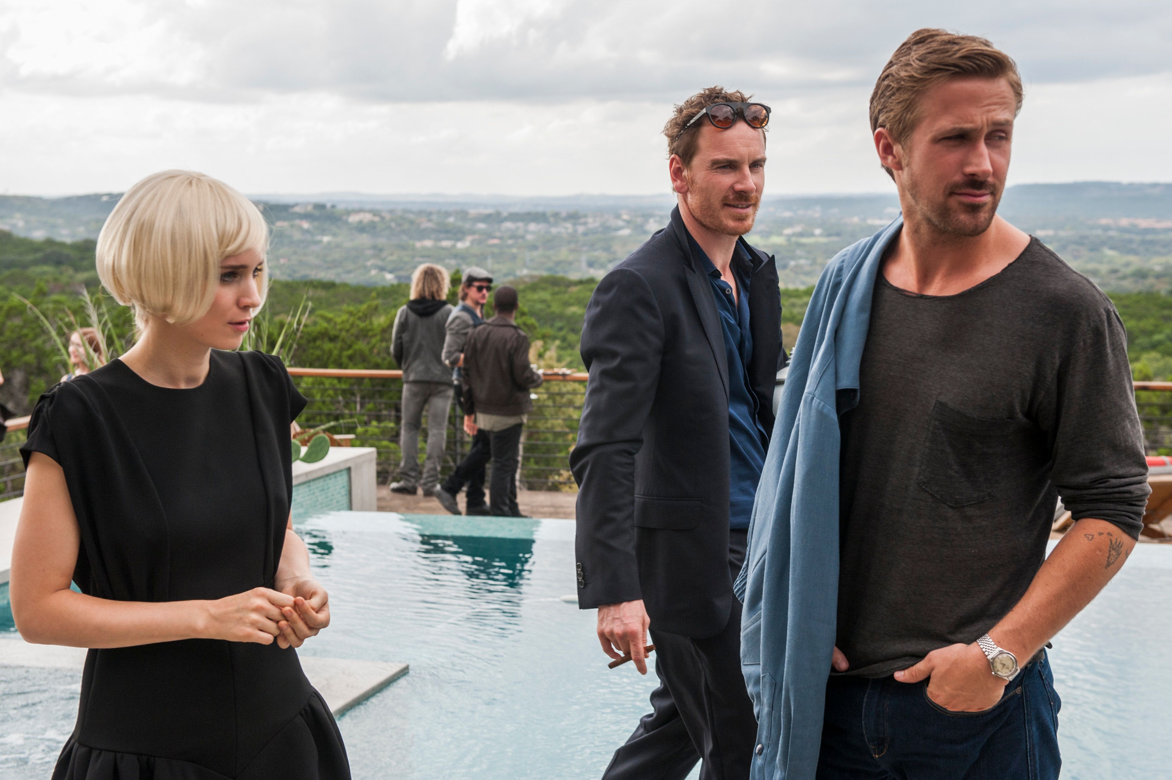 "Rooney Mara, Ryan Gosling and Michael Fassbender star in a scene from ""Song to Song."""