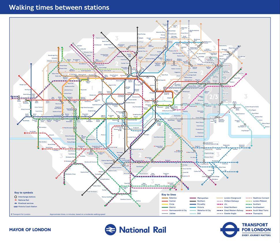 TfLs New Tube Map Reveals Walking Distances Between London – Map Underground London