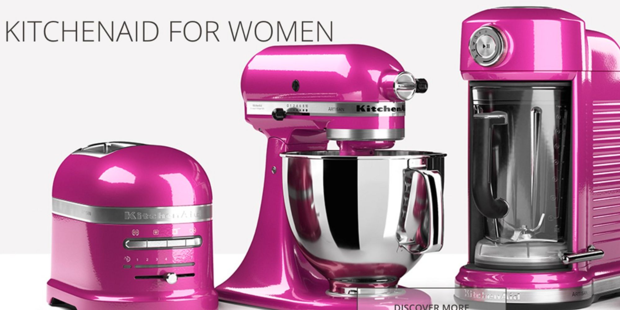 Pink Small Kitchen Appliances Kitchenaid Called Sexist For Advertising Pink Cooking Appliances