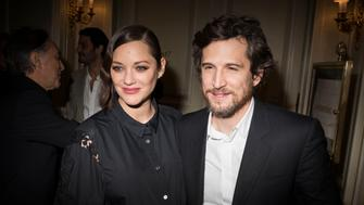 PARIS, FRANCE - JANUARY 16:  (L-R) Marion Cotillard and Guillaume Canet   attend the Cesar Revelations 2017' dinner at the Salon Chaumet on January 16, 2017 in Paris, France.  (Photo by Francois Durand/Getty Images)