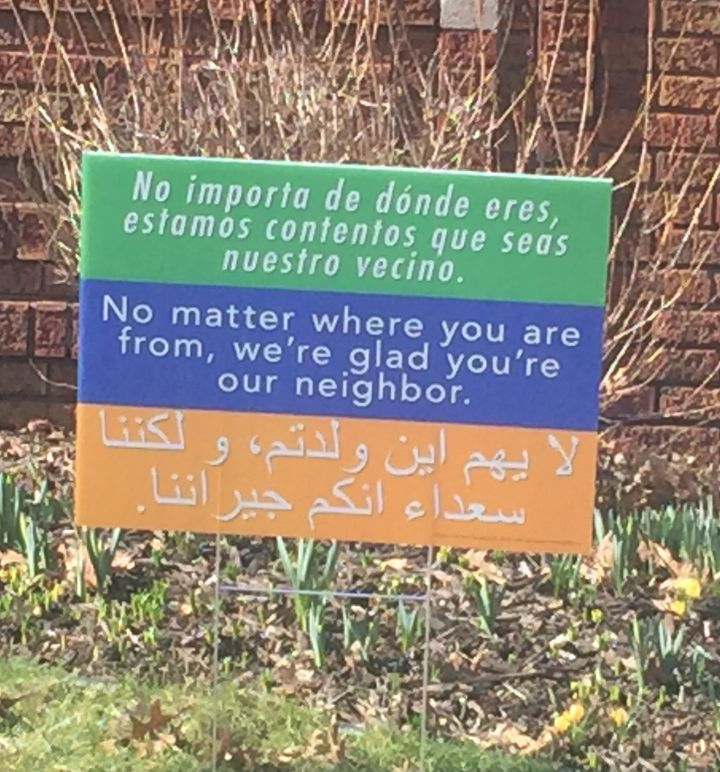 Welcome Your Neighbor Sign Created by Mennonite Pastor Matthew Bucher