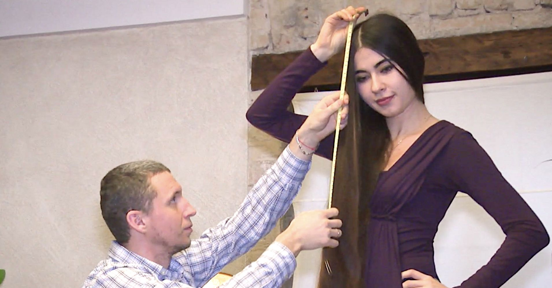 This Real-Life Rapunzel From Latvia Has Hair 90 Inches Long