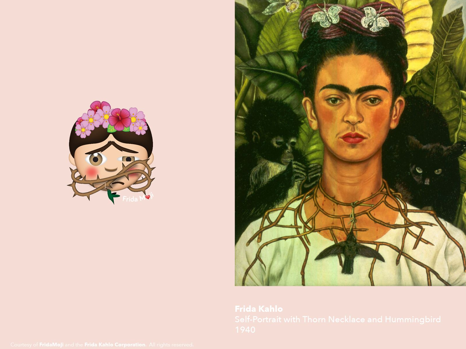 frida kahlo self portrait with thorn necklace and hummingbird essay Surrealist painter frida kahlo has been called one of mexico's greatest artists because of her brutal and revealing self-portraits self-portrait with thorn necklace and hummingbird is her most popular, and also one that contains many tokens of her life and work.